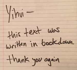 thanks in a bookdown report