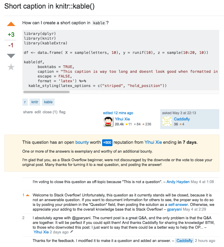 A Stack Overflow post that shows good intentions but was voted to be closed