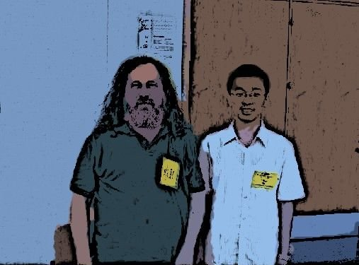 RMS and Yihui at useR! 2010