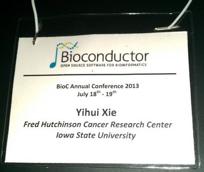 My first Bioconductor conference (2013)
