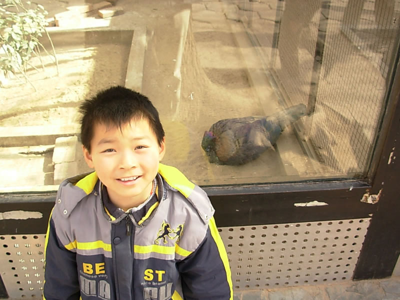 吕智鑫在北京动物园