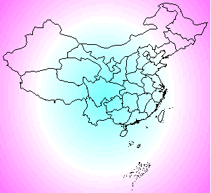 A Map of China on A Color Image